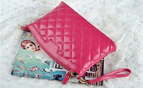 MeiliYH Fashion Gnocchi Bag Donne Oblique Croce Pacchetto Cuoio Borsa Donna Borsa Rosa_rossa