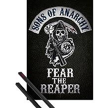 Póster + Soporte: Hijos De La Anarquia Póster (91x61 cm) Fear The Reaper Y 1 Lote De 2 Varillas Negras 1art1®