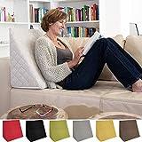 L'exceptionnel coussin cale dos pour le salon ou la chambre, pour la lecture assise décontractée. Cinq couleurs unies pour une ambiance dans le style branché de Sabeatex (Beige)