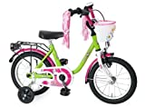 Kinderfahrrad 14'' Dream Cat hellgrün Purpur RH 23 cm Bachtenkirch