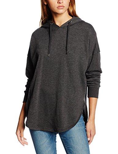 Urban Classics Damen Hoodie Ladies Oversized Terry Hoody, weit geschnittener Kapuzenpullover für Frauen mit abgerundetem Saum, charcoal, Größe XL