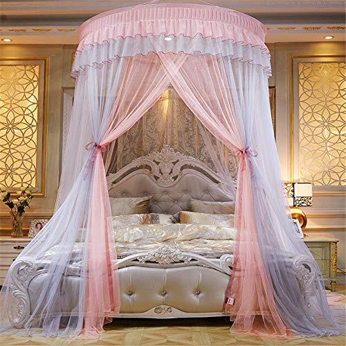 Fancylande Baldachin Betthimmel Moskitonetz Himmelbett Vorhänge Für Mädchen Bett - Colorblocking Dome Prinzessin Spiel Zelt Für Kinder Spielen, Kinderzimmer Dekor -