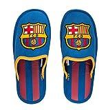 Hausschuhe, FC Barcelona, offizielles Lizenzprodukt, Blau – Granat 39 Bleu - Grenat