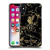 Head Case Designs Personalisierte Individuelle Liverpool Football Club Marmor Schwarz 2018/19 Harte Rueckseiten Huelle kompatibel mit iPhone X/iPhone XS