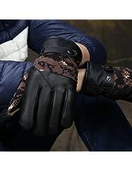 Los guantes calientes guantes y cómoda Guantes de cuero de invierno de los hombres de la cachemira gruesa Guantes de algodón ciclo termal de viento - Cold Esquí Anti - resbalón Touch - guantes de la pantalla ( Color : G )