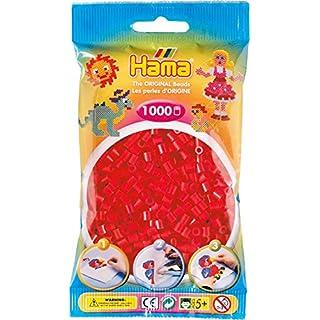 Hama - 207-05 - Loisirs Créatifs - Perles et Bijoux - Sachet 1000 Perles - Rouge