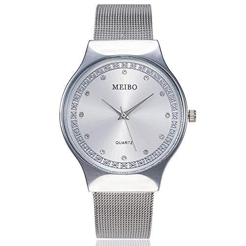 (Damen Armbanduhren,Uhren für Frauen Günstige Uhren Damen Wasserdicht Casual Analoge Quarzuhr Uhr Luxus Armband Uhren Edelstahl Armbanduhr Cassic Business Mädchen Frau Uhr)