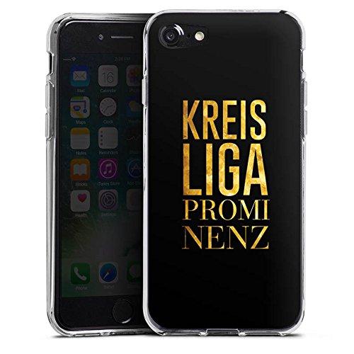 Apple iPhone X Silikon Hülle Case Schutzhülle Kreisliga Prominenz Fußball Sprüche Silikon Case transparent