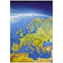 Das Große Europa Panorama (Format 108 x 150 cm), plano in Hülse (Marco Polo Panorama Maps)