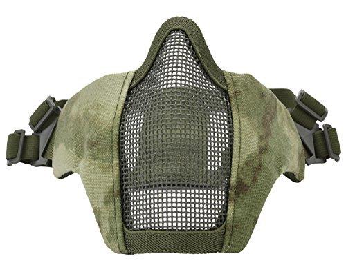Kapmore Maschera Airsoft Sciopero Acciaio Metà Viso Maschera Protettiva Attrezzature Esterni (Camouflage4)