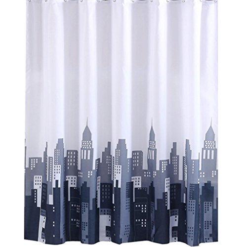 Rideaux de douche Rideau de douche matériel de polyester imperméable plus protection de l'environnement lavable de machine de salle de bains épaisse de sécurité Durable ( taille : 150×180CM )