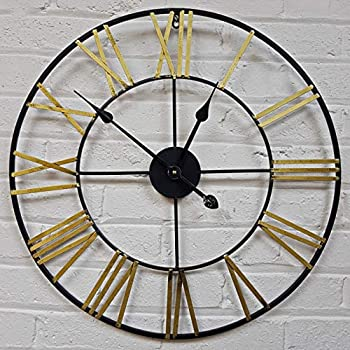 Vintage Wooden Wall Clock Large Shabby  Rustic Kitchen Home Antique Style YST