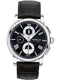 91a33621a2e9 Montblanc Reloj Analógico para Hombre de Cuarzo con Correa en Cuero 115123