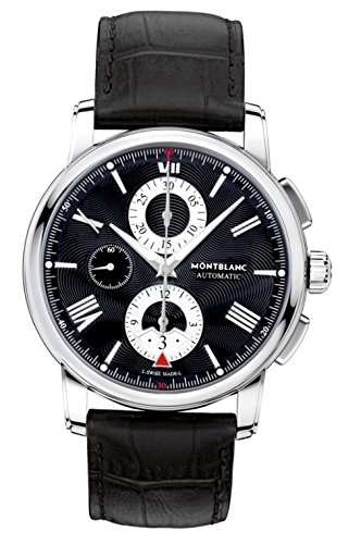 MONTBLANC MEN'S 4810 43MM BLACK ALLIGATOR LEATHER BAND AUTOMATIC WATCH...