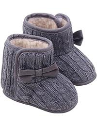 BOBOLover Bebé Botas de Algodón Caliente Invierno,Zapatos Casuales Bowknot Suela Blanda Recién Nacidos