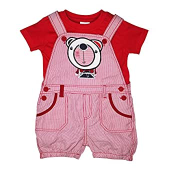 FS Mini Klub Boys' Red Dungaree Set