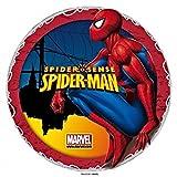 Dolce idea CIALDA in ostia SPIDERMAN personalizzabile forma rotonda diam. 20 cm, decorazione per torta