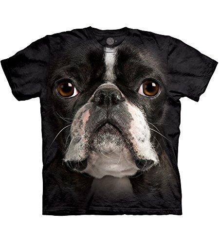 The Mountain Herren T-Shirt Boston Terrier Face - Schwarz - 5X-Groß Boston Terrier Sweatshirt