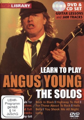 Preisvergleich Produktbild Learn to play Angus Young - The Solos (+ CD)