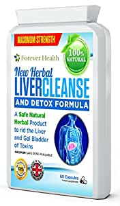 Liver Cleanse Detox Pulizia Del Fegato - HERBAL LIVER CLEANSE AND DETOX ! Questa NUOVA FORMULA Prevede solo l'utilizzo di sostanze naturali e piante come il CARCIOFO, il GINGER, la RADICE di TARASSACO al fine di pulire delicatamente e efficacemente il fegato e gli organi interni - 60 Compresse Bastano Per 2 MESI