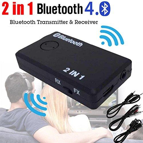 Dock-bluetooth-sender (2 in 1 Wireless Bluetooth Sender HARRYSTORE A2DP Empfänger Stereo Audio Musik Adapter mit 2-in-1 Audiokabel 3,5 mm Audiokabel USB Power Kabel)