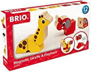 BRIO 30284 Magnetisk elefant och giraff | Magnetic Elephant & Giraffe. Pedagogisk leksak som utvecklar dit