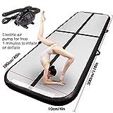 FBSPORT 3m Black Airtrack Matte, air Tracks Gymnastik Tumbling matten Floor Trainingsmatten...