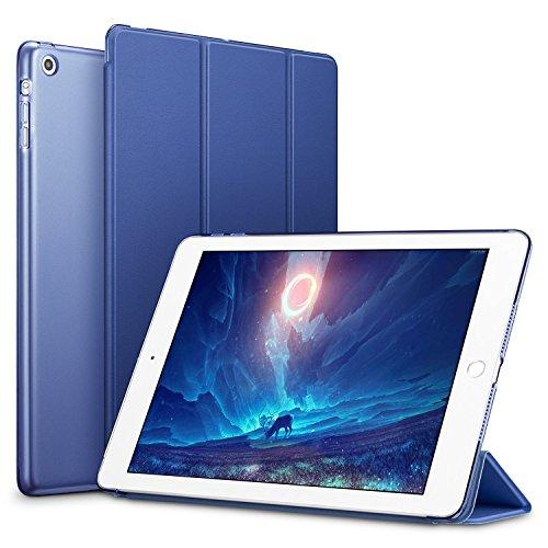 ESR iPad Mini Hülle, PU Schutzhülle für iPad mini 3/2/1 Ledertasche Smart Case Cover mit Durchschaubar Rückseite Abdeckung, Navy blau (Mini Fall 1 Ipad)
