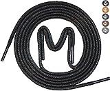 MEVID - 3 Paar - gewachste Business Schnürsenkel für Anzugschuhe, Rundsenkel in hoher Qualität aus 100% Baumwolle – Ø 2,5mm, 5 Farben; dünn, rund und reißfest