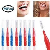 KAIMENG 50pcs Brossettes interdentaires nettoyeur dentaire oral de brosse d'hygiène...