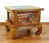 Java Opiumtisch aus buntem Teakholz | Beistelltisch aus Massivholz | Nachttisch der Marke Asia Wohnstudio | Nachtschrank | Kommode