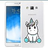 Coque Licorne Samsung galaxy grand prime g530, BéBé Licorne, nouvelle édition [ Ultra Slim ] Cloverfrance dessin qualité supérieure (Grand prime g530)