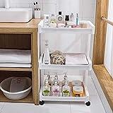 JBP Max Bathroom Storage Bathroom Caddy Bathroom Shelf Washing Machine Storage Cabinet Toilet Toilet Plastic Storage Washbasin Rack Toilet Floor,A