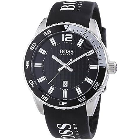 Hugo Boss 1512888 - Reloj analógico de cuarzo para hombre con correa de silicona, color negro