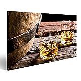 islandburner Bild Bilder auf Leinwand Glas Whisky im Alten Keller Wandbild, Poster, Leinwandbild GXM