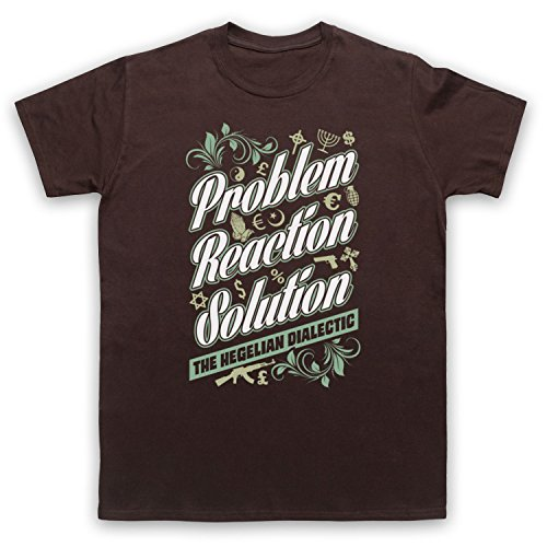 Problem Reaction Solution The Hegelian Dialectic Herren T-Shirt Braun