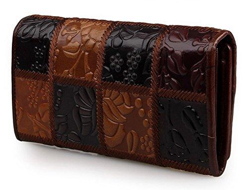 H&W Donna Moda Design Ricamo Pelle Portafoglio Stile #3 Style #1