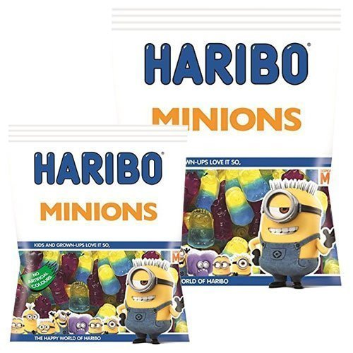 Image of Harribo Minions.2 x large 180grm bags of sweets,candy.Despicable me