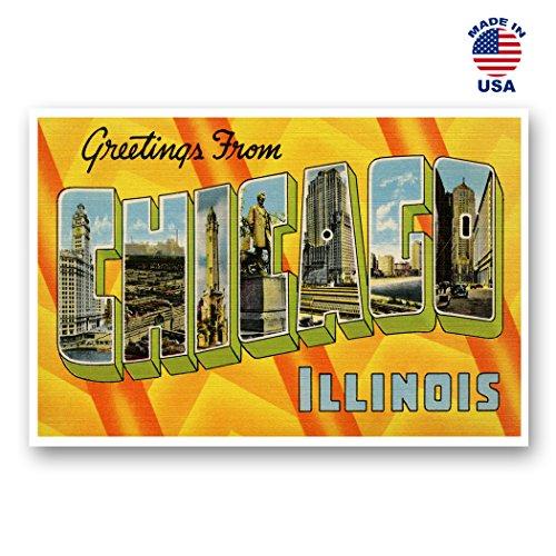 Grüße aus Chicago Vintage Nachdruck-Postkarten-Set von 20identische Postkarten. Groß Chicago, Illinois Stadt und Staat Namen Post Card Pack (ca. 1930's-1940's). Hergestellt in den USA.