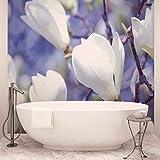 Blumen Magnolien Natur - Wallsticker Warehouse - Fototapete - Tapete - Fotomural - Mural Wandbild - (1620WM) - XL - 208cm x 146cm - VLIES (EasyInstall) - 2 Pieces