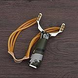 Dealglad® Steinschleuder, kraftvoll, aus Aluminiumlegierung und Gummi, Tarnfarbe, für den Außenbereich, Jagd, Angeln