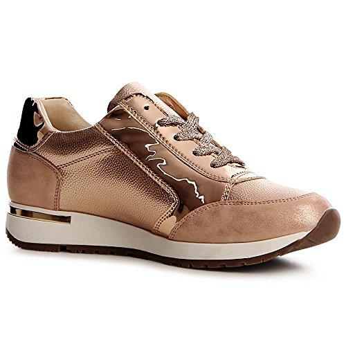 topschuhe24, Sneaker donna Rose Gold