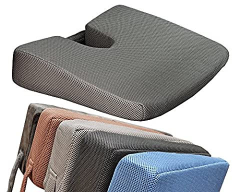 Medipaq® MEMORY FOAM Wedge Cushion with COCCYX CUT-OUT for Back