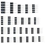 Foxnovo Elektrolytkondensatoren Sortiment Kit Set 1uF zu 2200uF 25 Werte 125pcs (schwarz)
