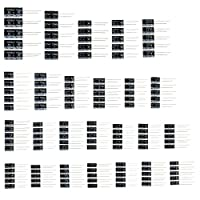 OULII 125pcs 25 Valeurs Totales de OULII Condensateurs électrolytiques Assortiment Kit Valeur 1uF 2200uF (Noir)