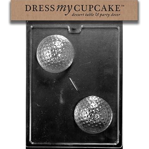 Dress My Cupcake DMCS112 Chocolate Candy Mold, Large Golf Ball by Dress My Cupcake