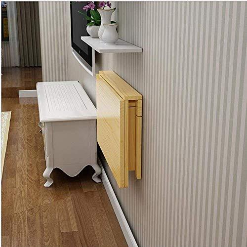 DEED Kleine Tabelle Haushalt Klappwand Workbench Collapsible Butcher Massivholzplatte Mehrere Größen erhältlich Einfache Moderne Schlafzimmer einfache Studie Tabelle,50 * 30 cm,Holz
