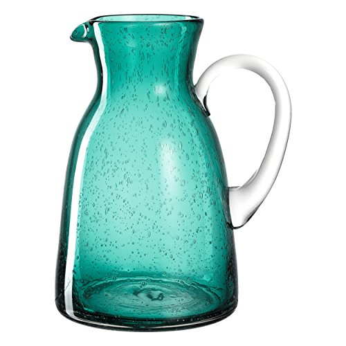 Leonardo Burano Krug Laguna, 1,7 l, handgefertigt, türkisfarbenes Schaumglas, 034753 (Bunte Krug)