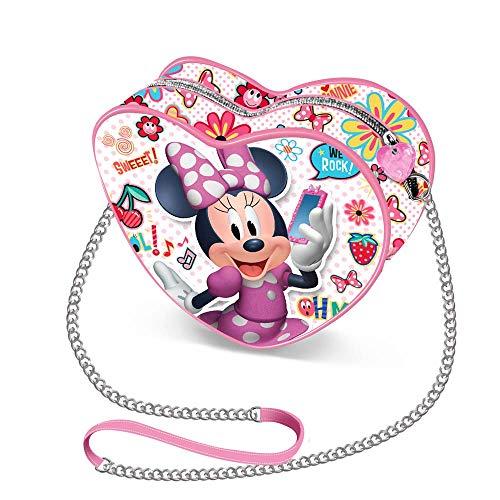 Karactermania Minnie Mouse OhMy!-Sac à Bandoulière Coeur (Mini) Borsa Messenger, 12 cm, Multicolore (Multicolour)