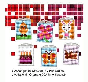 Pracht Creatives Hobby P90013-63501 - Juego de Manualidades para Manualidades (6 medallones, Llavero, para niños, niños y niñas, Ideal como pequeño Regalo, para cumpleaños Infantiles)